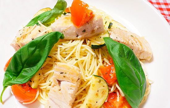 かじきと夏野菜のカッペリーニ