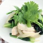メカジキと小松菜のエスニック炒め
